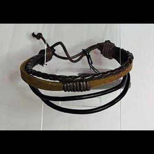 Adjustable Multi-strand Leather Bracelet